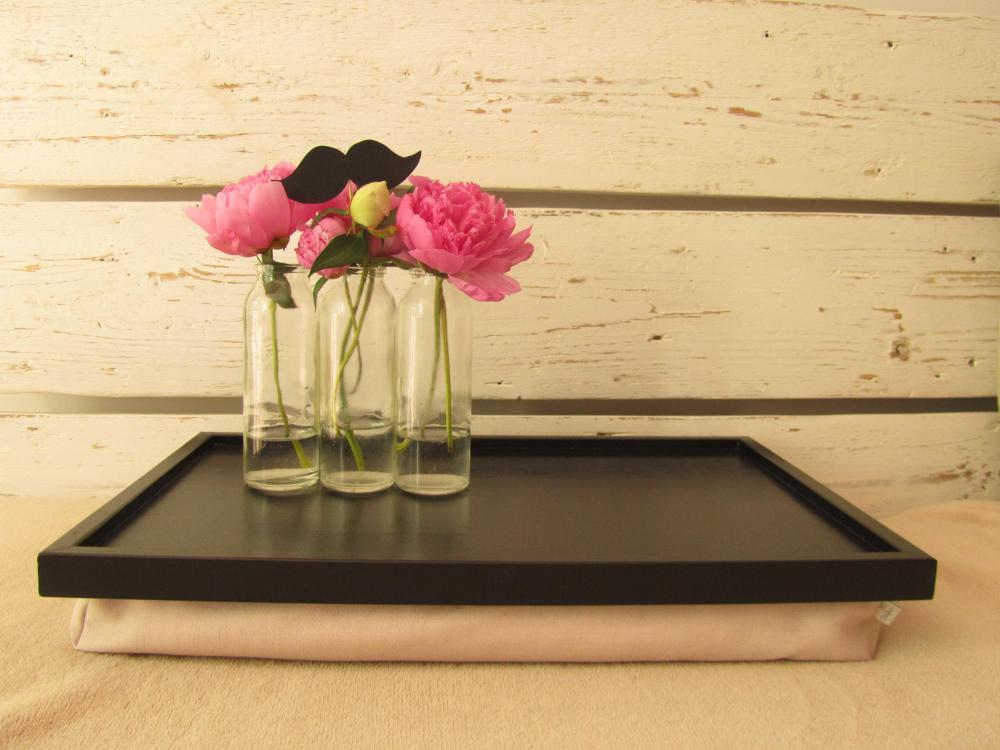 3 Mustache - Pillow tray - Lap Desk - Custom Order